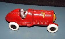 "HUBLEY #7 SPRINT INDY CAST IRON RACE CAR 5"" Long Good!   RED"