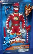 "Power Rangers Dino Thunder RED 12"" Talking Warrior Ranger New Factory Seal 2003"
