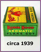 Tobacco Tin 🚬 Robin Hood Fine Cut 🚬 Circa 1939 🚬 Awesome Little 2 Oz Tin ✔️✔️