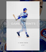 Mark Grace Chicago Cubs Baseball Illustrated Print Poster Art
