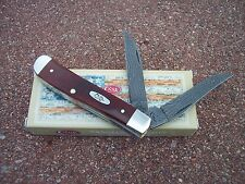 CASE XX * 2016 SMOOTH CHESTNUT RANDOM DAMASCUS MINI TRAPPER KNIFE KNIVES