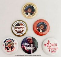President Donald Trump 2020 Campaign Buttons (Set of 6)