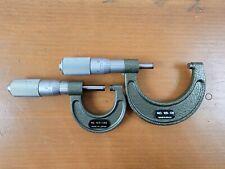 Mitutoyo Micrometer Lot Of 2 No103 135 Amp 103 136