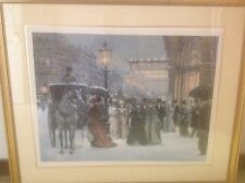 "ALAN MALEY LITHOGRAPH ""OPENING NIGHT"" FRAMED, SIGNED AND NUMBERED 366/500"