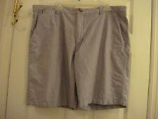 Men's Merona Blue Denim Look Walking Flat Front 100% Cotton Shorts Size 40