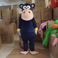 Dark Blue Monkey Mascot Costume Suit Cosplay Party Game Dress Outfit Hallowee 1P