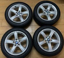 4 OEM BMW 393 Style 17 Alloy Wheels Winter Runflat Tyres E87 E90 E91 F36 F30