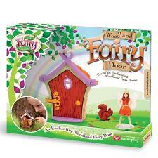 NEW MY FAIRY GARDEN-WOODLAND FAIRY DOOR SET-FAIRY CRAFT BOX-OPENING DOOR & FAIRY