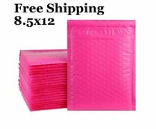 1 300 2 85x12 Pink Color Poly Bubble Mailers Fast Shipping