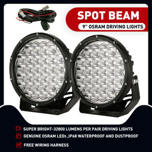 OSRAM 9inch LED Driving Lights New Design Spot Offroad Spotlights Work Round Ute