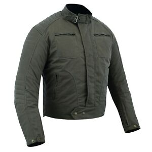 Warrior Gears Waxed Cotton Motorcycle Jacket Waterproof | Breathable | Armoured