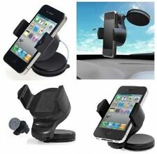 WINDSCREEN/DASH CAR MOBILE PHONE HOLDER iPhone 4 4S 5 6S HTC Samsung Galaxy MinI