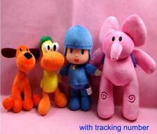 Set Of 4pcs Pocoyo Elly Pato Loula Plush Stuffed Figure Toy Doll Kids Gift