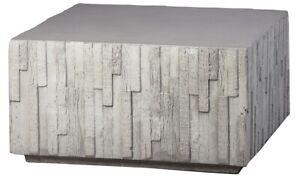 """30"""" Simone Coffee Table Cement Square Grey Cube Barn Board Contemporary"""