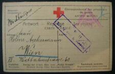 Kriegsgefangenenpost 1917: Karte von Russland nach Wien