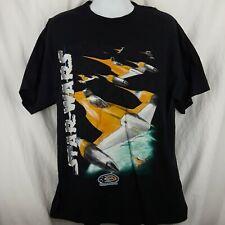 Vintage Star Wars Episode 1 Black T-shirt Naboo Starfighter Men's Size Xl
