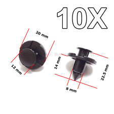 10X Trim Clips for Bumpers Splashguards, Wheel arch for Mitsubishi & Nissan