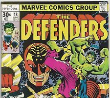 The DEFENDERS #48 with The HULK and Nick Fury from June 1977 in F/VF con.