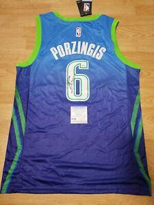 Kristaps Porzingis Signed Autographed Dallas Mavericks Jersey City PSA/DNA COA