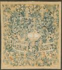 Vintage Pictorial Tapestries French Area Rug Hand-woven Transitional 5x5 Square