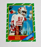 1986 TOPPS #161 #374 JERRY RICE & STEVE YOUNG Rookie Cards + '86 TOPPS FB SET