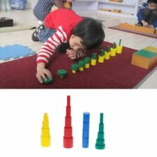 Montessori Wooden Cylinders Educational Toys Kids Children Early Teaching Gift