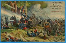 CPA Patriotique: Feldskizze - Eroberung der 1. franz Fahne / Guerre 14-18