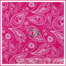 BonEful Fabric Fq Cotton Quilt Corduroy Retro Hot Bright Pink Flower Dot Paisley