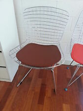 4 x NEW RETRO CHAIR CHROME WIRE DINING OR CAFE - BROWN