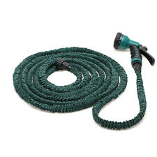 Latex 75 Feet Expandable Flexible Garden Water Hose Pipe w/Spray Nozzle New