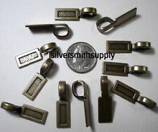 12 Antique bronze plated 26mm glue on bails for jewelry, pendants charms gpb018
