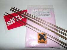 20 x Sifbronze No 1 Brazing rods 1.6mm x 333mm long + free flux  ,