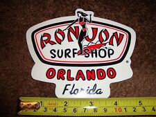 RON JON Surf Shop Decal/Sticker ORLANDO Florida Rare SURFER GIRL