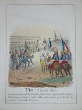 RARE Litho Couleur NAPOLEON ULM AUSTERLITZ 1805 CAVALERIE CUIRASSIER EMPIRE 1830