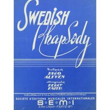 ALFVÉN Hugo Swedish Rhapsody Piano 1953 partition sheet music score