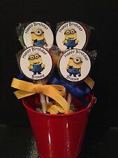 Minion Personalized Birthday Lollipops