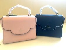 NWT Kate Spade Leewood Place Mini Makayla Pink & Black Leather Purse PXRU7342