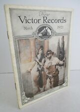 March 1921 VICTOR RECORDS Illustrated Catalog