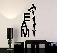 Vinyl Wall Decal Team Work Teamwork Office Business Word Stickers (ig4656)