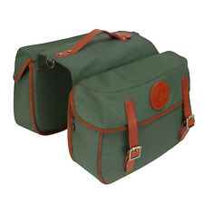 Tourbon Canvas Leather Cycling Rear Seat Double Pannier Bicycle Market Bags