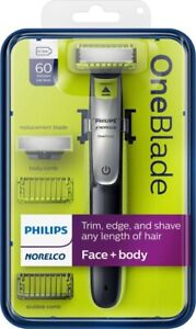 PHILIPS NORELCO One Blade FACE + BODY QP2630/70 with:  60 Min Run Time - NEW