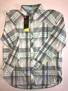 Under Armour New High Tide Plaid Fishing Shirt Women's Size Small 1351127