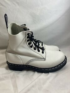 Dr Martens White Black Combat Boots Pascal 1460 Leather Women's Size 9 NICE