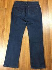 NYDJ Straight Leg Jeans Sz 10P 30x28 Dark Wash Blue Pants Lift Tuck
