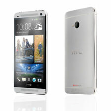 """Unlocked 4.7"""" HTC One M7 32GB 4G LTE WiFi NFC 4.1MP Android Smartphone - Silver"""