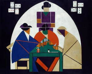 Theo Van Doesburg Card Players Giclee Art Paper Print Poster Reproduction