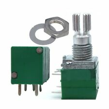 5 pcs silver green R097 type B1K with switch potentiometer 2.83*1.47*0.95cm T4X1