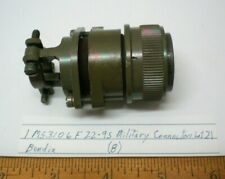1 MS 3106F22-9S Military Connector w/Strain Relief BENDIX, Lot 21, Made in USA