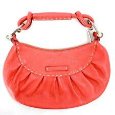 BCBGMAXAZRIA Baguette Purse Handbag Thick Stitch Detail Zip Closure Medium Sz