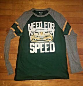 Boys Children's Place Green Long Sleeve Shirt Size XL 14